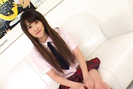 Shiori Kitajima Pretty Asian girl is a sweet teen.