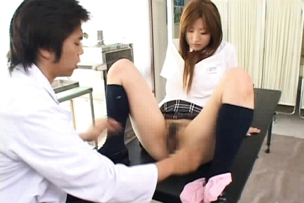 Japanese doll is a hot schoolgitl in panties
