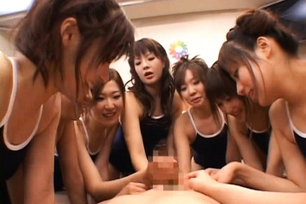 Beautiful Japanese girls learning their lessons