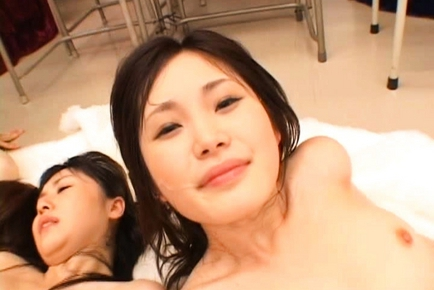 Japanese beauties are hot for a gangbang