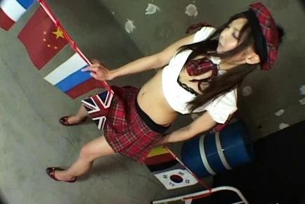 Hikari Aota Lovely Asian doll plays sex games