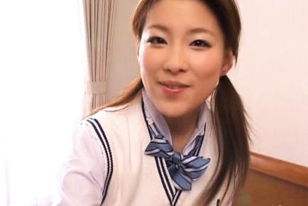 Akane Sakura Cute Asian teen