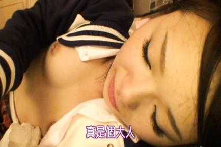Natsumi Kato beautiful Asian girl gets cum facial