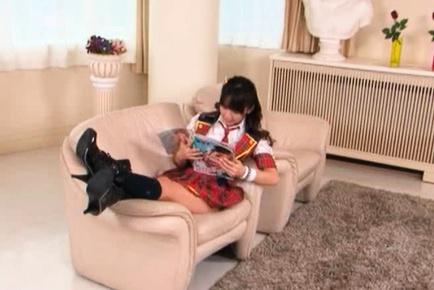 Hikaru Ayuhara Pretty Asian doll is a sexy schoolgirl