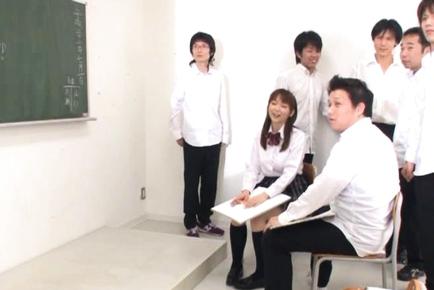 An Nanairo Busty Asian schoolgirl likes cock