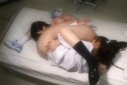 Japanese schoolgirls in lesbian sex Academy