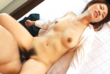 Nasty schoolgirl Kaori Manaka gets a fat boner inside her.