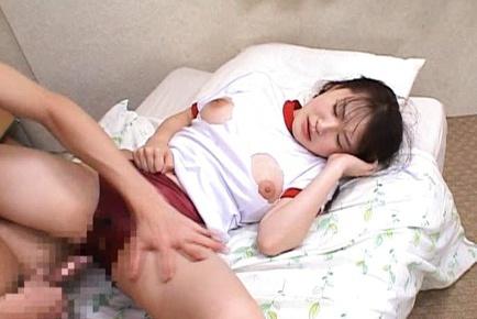 Risa Hano Asian model fucks two horny guys