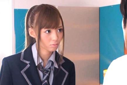 Schoolgirl Blowjob With Aino Kishi Drinking Cum