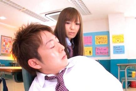 Aino Kishi Fucks A School Friend In The Classroom