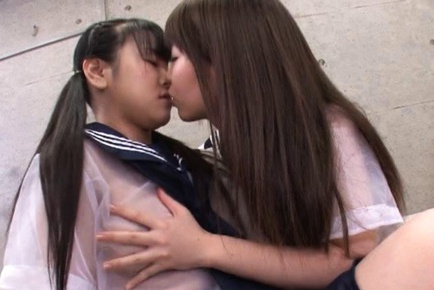 Japanese Av model is a kinky schoolgirl