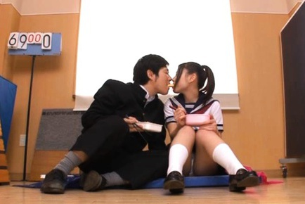 Japanese schoolgirl Maho Ichikawa learns whata hard cock is for