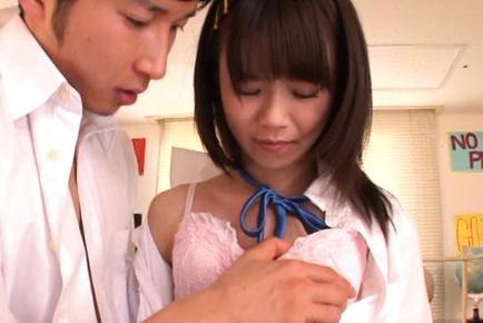 Asuka Hoshino hot school uniform fuck with deep penetration