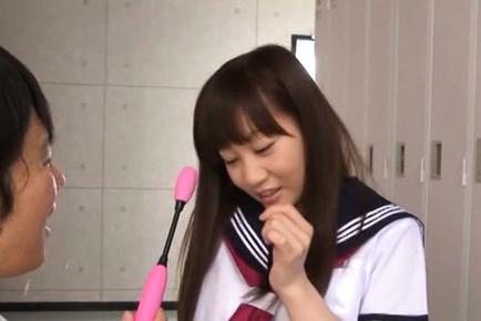Teen Yuri Shinomiya Made To Cum From Sex Toys At School