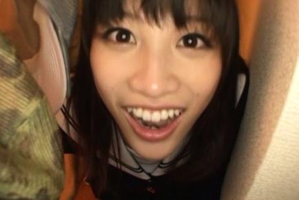 Skinny babe Miku Sunohara amazes with her naughty mouth