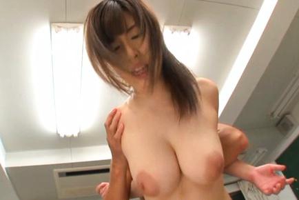 Teen school girl Mizuki Akai gets nailed at school