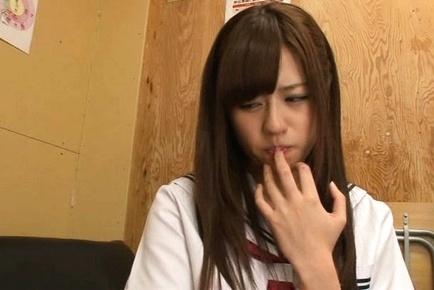 Rina Rukawa is very good at cock sucking