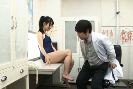 Savory Asian teen Rin Suzune is screwed by a horny doc