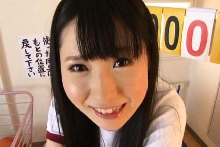 Savory Japanese schoolgirl Rin Suzune enjoys headfuck