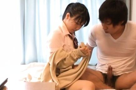 Alluring Japanese AV Model enjoys sex play with her guy