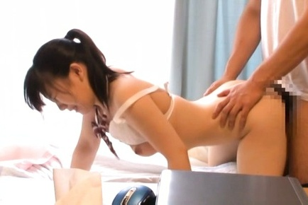 Alluring Japanese AV Model enjoys sex play with her guy