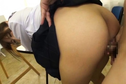 young Maya Kawamura blows cock and fuck at school