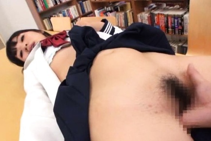 Japanese schoolgirl gets fucked at school