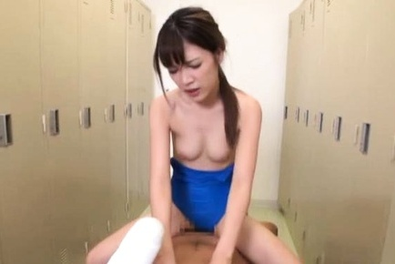 Lustful schoolgirl with small tits sucks cock and gets fucked on pov