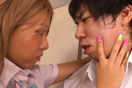 Nasty Japanese schoolgirl loves to suck and swallow