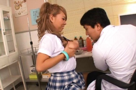 Harsh fuck for Japanese school girl Chika Kitano