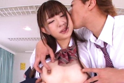 Captivating schoolgirl Haruna Aisaka feels so well on hard cock