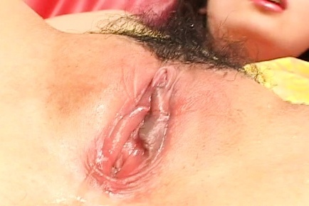 Hatsumi Kudo hot Asian milf in yellow gets pussy fingered and toy insertion